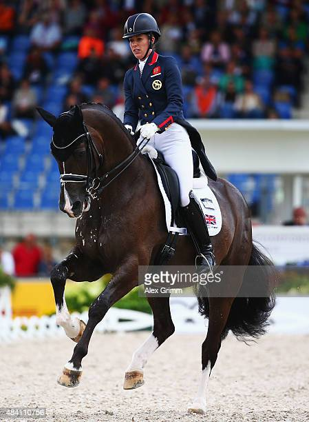 Charlotte Dujardin of Great Britain competes on her horse Valegro during the Dressage Grand Prix Special Individual Final on Day 4 of the FEI...