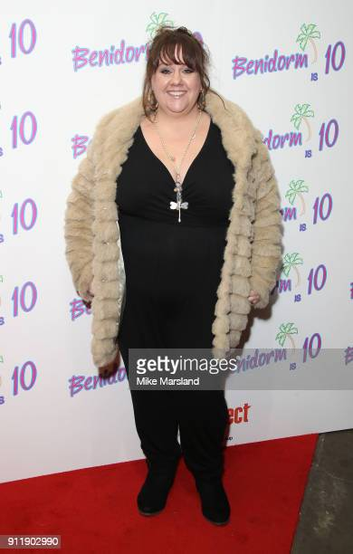 Charlotte Eaton during a photocall for ITV show 'Benidorm ' which is celebrating it's 10th anniversary at The Curzon Mayfair on January 29 2018 in...
