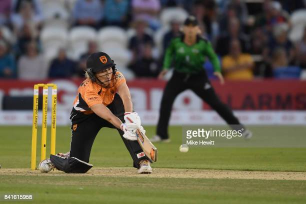 Charlotte Edwards of Southern Vipers in action during the Women's Kia Super League Final between Southern Vipers and Western Storm at The 1st Central...