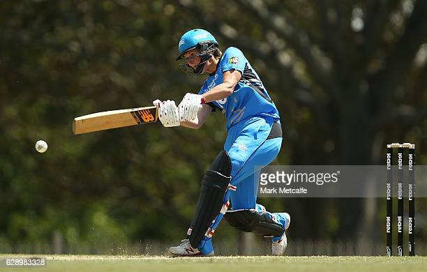Charlotte Edwards of the Strikers bats during the Women's Big Bash League match between the Melbourne Renegades and the Adelaide Strikers at North...