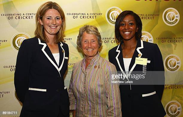 Charlotte Edwards Rachael HeyhoeFlint and Ebony RainfordBrent pictured during a 'Womens Cricketdevelopment and expansion' talk during the ICC...