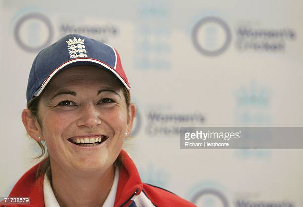 Charlotte Edwards the England Captain talks to the media during the launch of Taunton as the home of women's cricket prior to the 2nd npower Test...