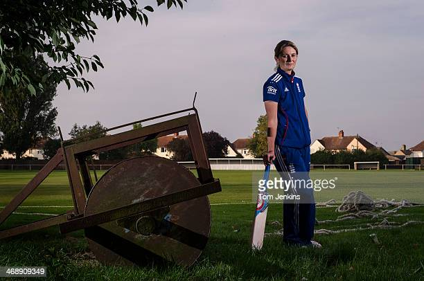 Charlotte Edwards the England womens cricket captain poses for a portrait at Ramsey Cricket Club where she started playing on September 24 2013 in...