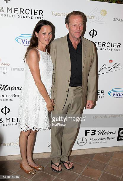 Charlotte Emmerson and Iain Glen attends 62 Taormina Film Fest Day 7 on June 17 2016 in Taormina Italy