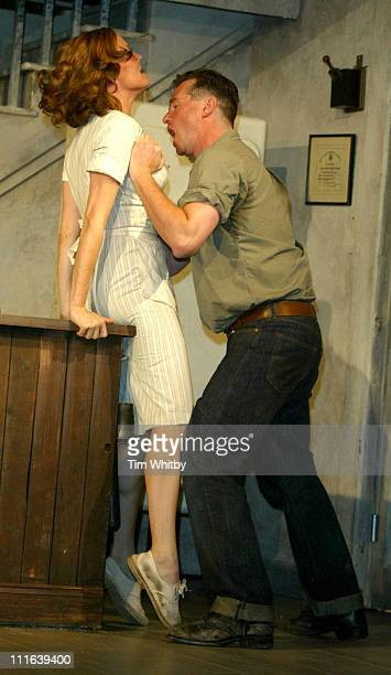 Charlotte Emmerson and Val Kilmer during The Postman Always Rings Twice London Photocall at Playhouse Theatre in London Great Britain