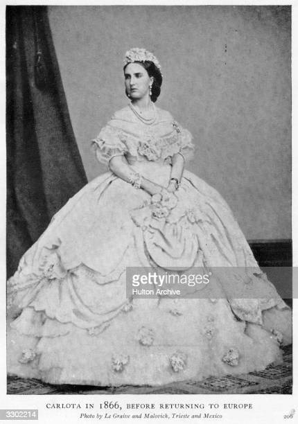 Charlotte Empress of Mexico daughter of King Leopold I of Belgium and wife of the Archduke Maximilian of Austria emperor of Mexico from 1863 to 1867