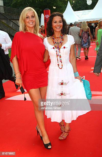 Charlotte Engelhardt and Gitta Saxx attend the 'Movie Meets Media' party at discoteque P1 on June 23 2008 in Munich Germany