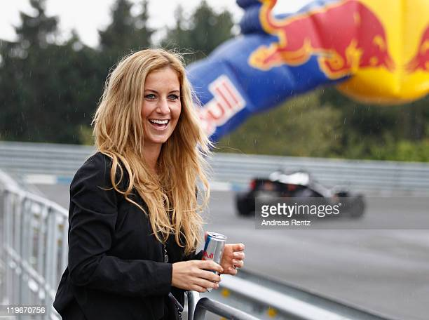 Charlotte Engelhardt attends the Red Bull On Track event at the Driving Safety Center on July 23, 2011 in Nuerburg, Germany.