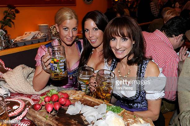 Charlotte Engelhardt with sister Henriette and Anna Maria Kaufmann attend the Bunte Wiesn at Hippodrom during the Oktoberfest 2010 at Theresienwiese...