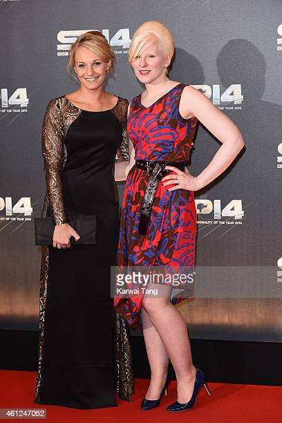 Charlotte Evans and Kelly Gallagher attend the BBC Sports Personality of the Year awards at The Hydro on December 14 2014 in Glasgow Scotland