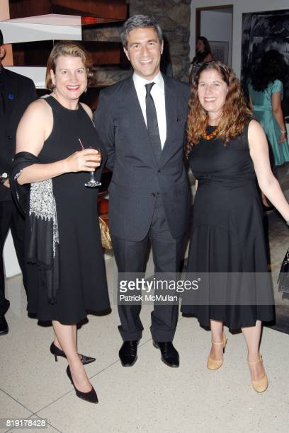 Charlotte Eyerman Michael Govan and Andrea Feldman Falcione attend The First Annual Benefit Hosted By Los Angeles Nomadic Division at Private...