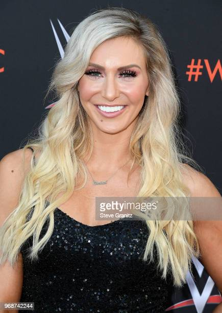 Charlotte Flair arrives at the WWE's FirstEver Emmy For Your Consideration Event at Saban Media Center on June 6 2018 in North Hollywood California