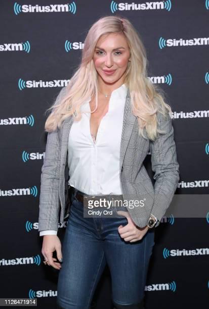 Charlotte Flair attends SiriusXM at Super Bowl LIII Radio Row on January 31 2019 in Atlanta Georgia