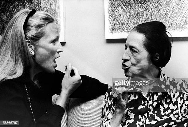 Charlotte Ford Forstmann and Diana Vreeland editor of VOGUE