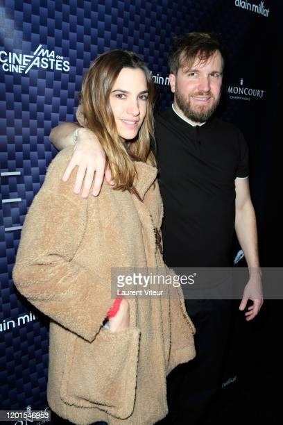 Charlotte Gabris and Nicolas Bary attend VeRsus an exhibition by Nicolas Bary at Cinema des Cineastes on January 23 2020 in Paris France