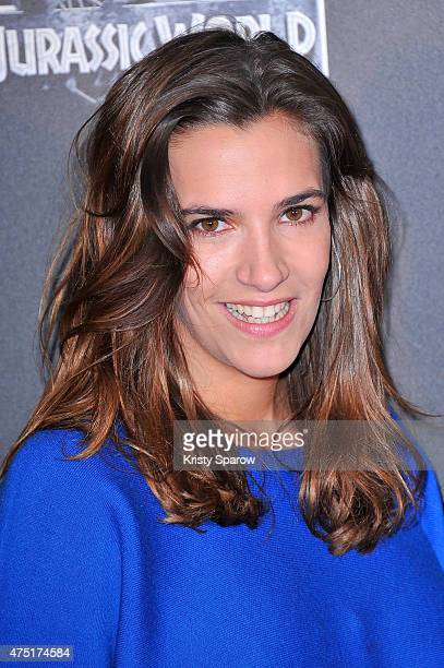 Charlotte Gabris attends the 'Jurassic World' Photocall at UGC Normandie on May 29 2015 in Paris France