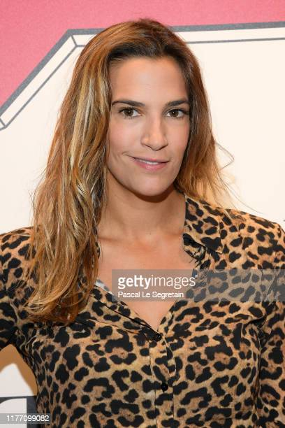 Charlotte Gabris attends the Lancel 'Portraits De Fantaisie cocktail event during Paris Fashion Week Womenswear Spring Summer 2020 on September 25...