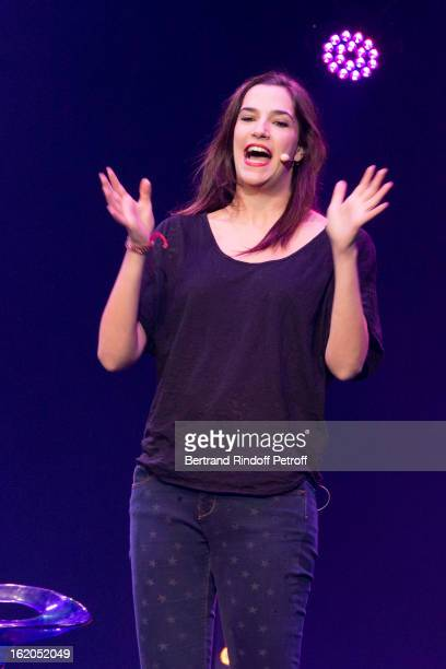 Charlotte Gabris performs during the 3rd edition of the 'Europe 1 fait Bobino' show at Bobino on February 18 2013 in Paris France