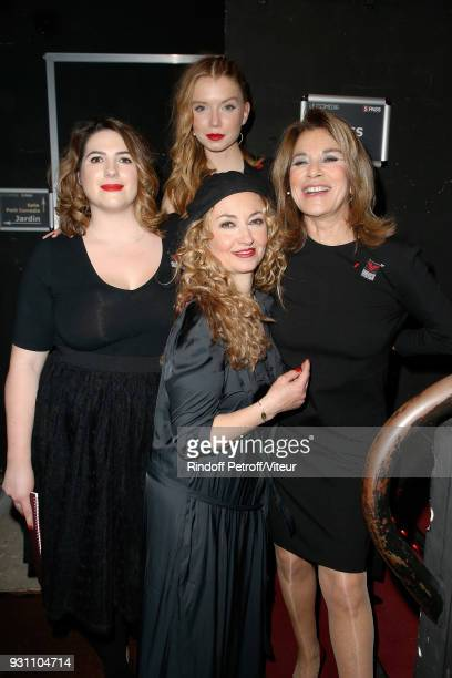 Charlotte Gaccio Christelle Chollet Eden Ducourant and Nicole Calfan at Le Comedia on March 12 2018 in Paris France