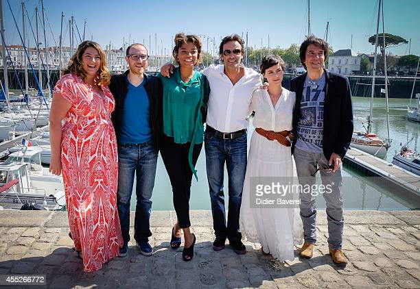 Charlotte Gaccio Marius Colucci Jina Djemba Anthony Delon and Marie Montoya attend the photocall of 'Interventions' as part of 16th Festival of TV...