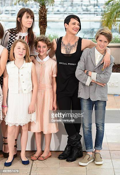 Charlotte Gainsbourg Alice Pea Giulia Salerno Director Asia Argento and Andrea Pittorino attends the 'Incompresa' photocall during the 67th Annual...