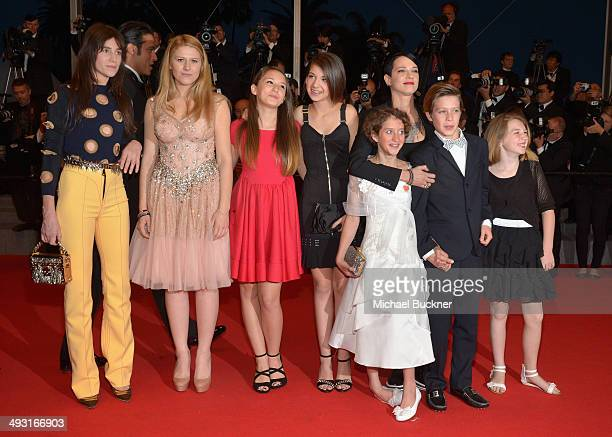 Charlotte Gainsbourg and director Asia Argento Giulia Salerno Andrea Pittorino abd cast attend the 'Misunderstood' premiere during the 67th Annual...