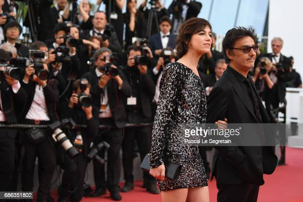 Charlotte Gainsbourg and her partner Yvan Attal attends the 'The Meyerowitz Stories' screening during the 70th annual Cannes Film Festival at Palais...