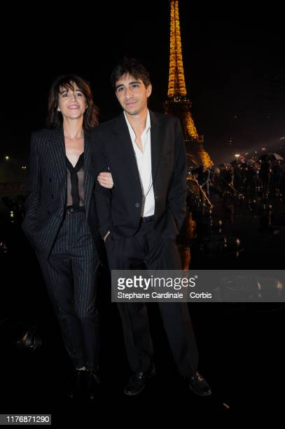 Charlotte Gainsbourg and her son Ben Attal attend the Saint Laurent Womenswear Spring/Summer 2020 show as part of Paris Fashion Week on September 24...