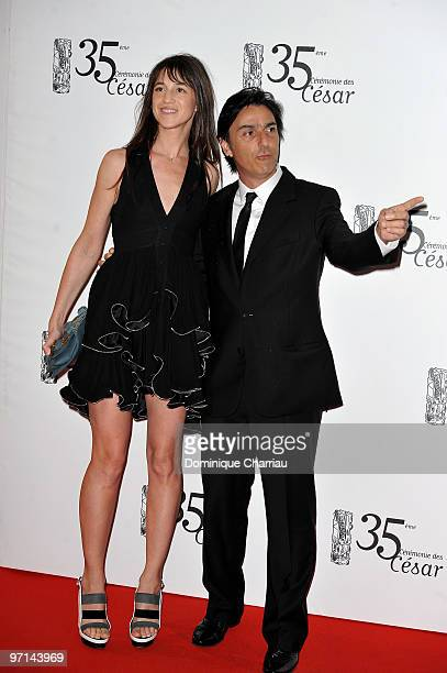 Charlotte Gainsbourg and husband Yvan Attal attend the 35th Cesar Film Awards at Theatre du Chatelet on February 27 2010 in Paris France