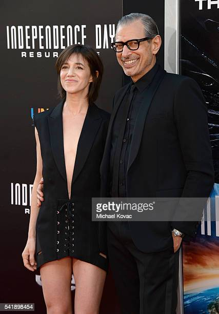 Charlotte Gainsbourg and Jeff Goldblum attend the 'Independence Day Resurgence' premiere sponsored by Jeep at TCL Chinese Theatre on June 20 2016 in...