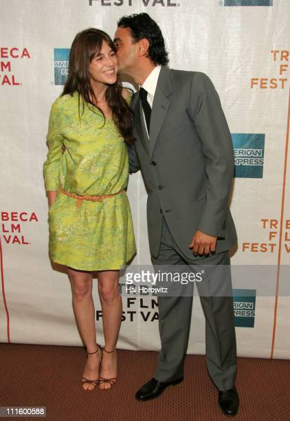 Charlotte Gainsbourg and Vincenzo Amato during 6th Annual Tribeca Film Festival 'Golden Door' Arrivals at Pace University Schimmel Center for the...