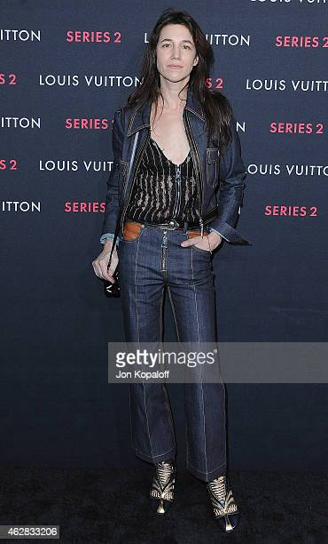 Charlotte Gainsbourg arrives at Louis Vuitton 'Series 2' The Exhibition on February 5 2015 in Hollywood California