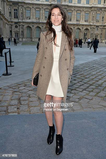 Charlotte Gainsbourg arrives at the Louis Vuitton show as part of the Paris Fashion Week Womenswear Fall/Winter 20142015 on March 5 2014 in Paris...