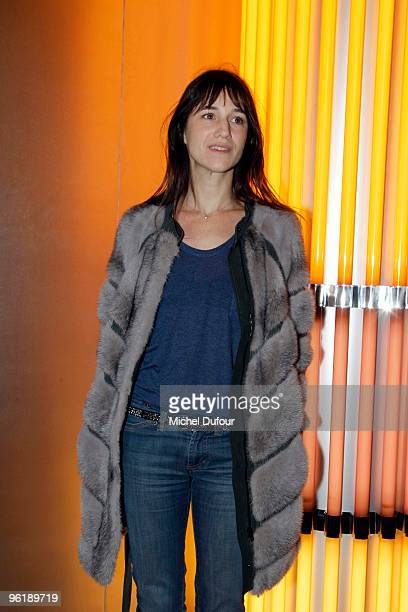 Charlotte Gainsbourg attend at the photocall during the Chanel HauteCouture show as part of the Paris Fashion Week Spring/Summer 2010 at Pavillon...