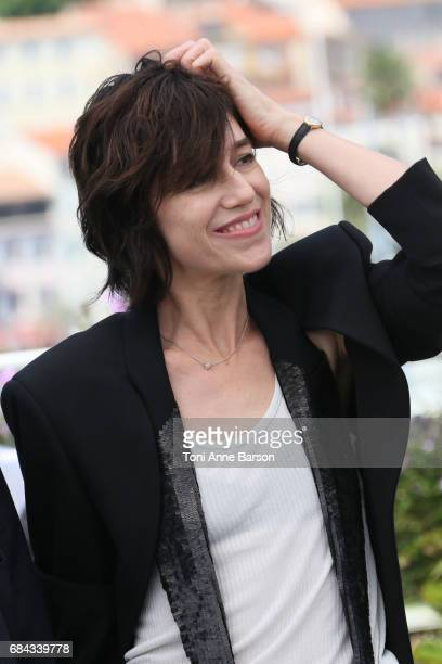 Charlotte Gainsbourg attends the 'Ismael's Ghosts ' photocall during the 70th annual Cannes Film Festival at Palais des Festivals on May 17 2017 in...