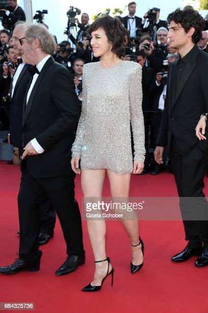 Charlotte Gainsbourg attends the 'Ismael's Ghosts ' screening and Opening Gala during the 70th annual Cannes Film Festival at Palais des Festivals on...