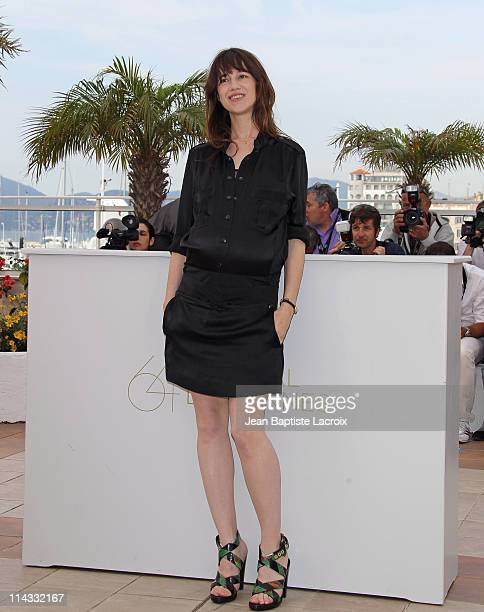 """Charlotte Gainsbourg attends the """"Melancholia"""" Photocall during the 64th Cannes Film Festival at the Palais des Festivals on May 18, 2011 in Cannes,..."""