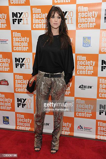 """Charlotte Gainsbourg attends the premiere of """"Melancholia"""" during the 49th annual New York Film Festival at Alice Tully Hall, Lincoln Center on..."""