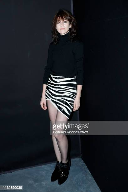 Charlotte Gainsbourg attends the Saint Laurent show as part of the Paris Fashion Week Womenswear Fall/Winter 2019/2020 on February 26 2019 in Paris...