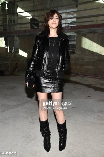 Charlotte Gainsbourg attends the Saint Laurent show as part of the Paris Fashion Week Womenswear Fall/Winter 2017/2018 on February 28 2017 in Paris...