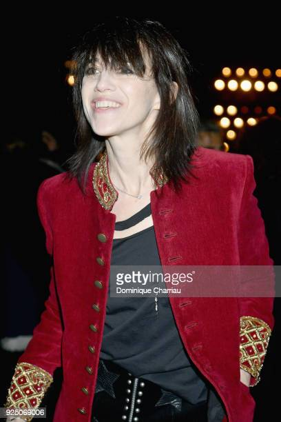 Charlotte Gainsbourg attends the Saint Laurent show as part of the Paris Fashion Week Womenswear Fall/Winter 2018/2019 on February 27 2018 in Paris...