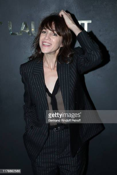 Charlotte Gainsbourg attends the Saint Laurent Womenswear Spring/Summer 2020 show as part of Paris Fashion Week on September 24 2019 in Paris France