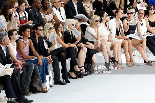 Charlotte Gainsbourg Ayo Gaspard Ulliel Claudia Schiffer Kasia Smutniack Micky Green and MarieJosee Croze attend the Chanel Haute Couture Autumn...