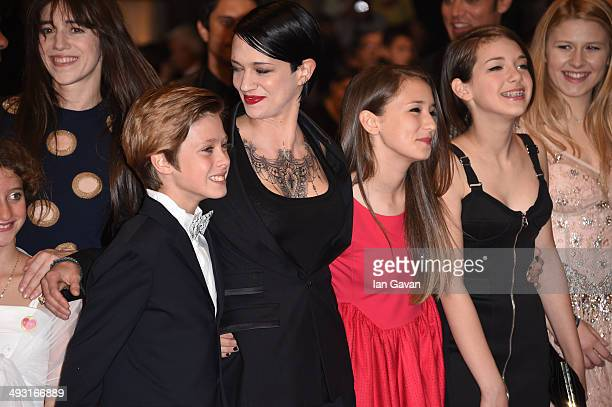 Charlotte Gainsbourg Director Asia Argento and Andrea Pittorino attends the 'Misunderstood' premiere during the 67th Annual Cannes Film Festival on...