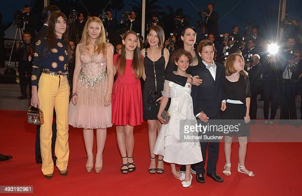 Charlotte Gainsbourg director Asia Argento Giulia Salerno Andrea Pittorino attends the 'Misunderstood' premiere during the 67th Annual Cannes Film...
