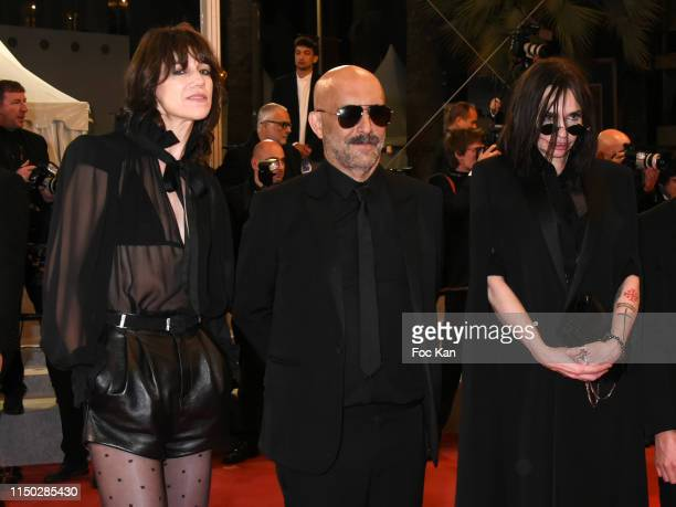 """Charlotte Gainsbourg, Gaspar Noe and Beatrice Dalle attend the screening of """"Lux Aeterna"""" during the 72nd annual Cannes Film Festival on May 18, 2019..."""