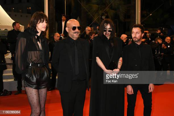 """Charlotte Gainsbourg, Gaspar Noe Beatrice Dalle and Anthony Vaccarello attend the screening of """"Lux Aeterna"""" during the 72nd annual Cannes Film..."""