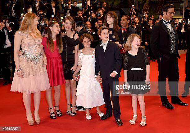 Charlotte Gainsbourg Giulia Salerno Andrea Pittorino and Gabriel Garko attend the 'Incompresa' Premiere during the 67th Annual Cannes Film Festival...