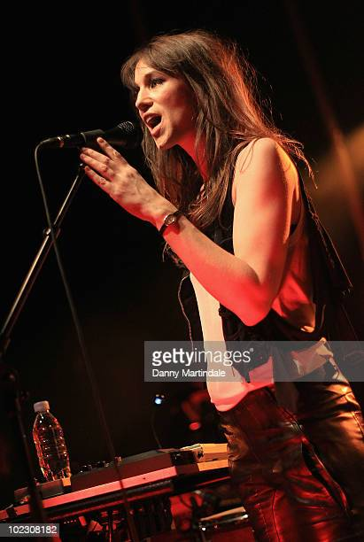 Charlotte Gainsbourg performs at Shepherds Bush Empire on June 22 2010 in London England