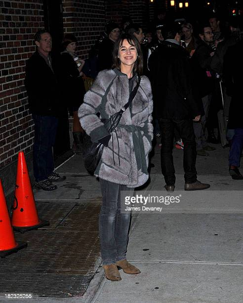 Charlotte Gainsbourg visits Late Show With David Letterman at the Ed Sullivan Theater on January 18 2010 in New York City